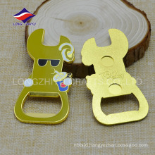 New selling silver print logo polishing keychains bottle opener