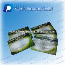Señuelo de la pesca Cerradura de la cremallera Empaquetado / bolso con la ventana clara / el bolso transparente