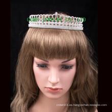 Tiara para el ornamento del pelo de la boda de la parte Rhinestone Crown