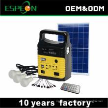 Éclairage à la maison 10W mini kit panneau solaire générateur d'énergie