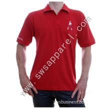Custom Man's Embroidery Logo Cotton Golf Polo T Shirt