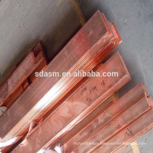 Red Color Copper Flat Rod Alloy Copper Bar T1 T2