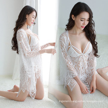 Feather Soft Babydoll Fashion Alluring Lingerie Suit Sheer Nightdress Suit