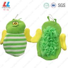 Green style bee children bath gloves