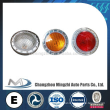Round 130 MM Bus LED Tail Lights Rear Lamps with Emark HC-B-2082