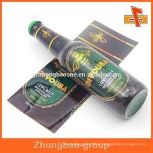 Guangdong manufactory PET encogimiento banda personalizado diseño impreso botella encogimiento manga para el paquete automático