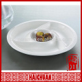 4 compartment plate for restaurant and hotel