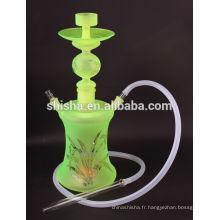 Gros tabac Al Fakher narguilé Art verre de chicha narguilé avec LED