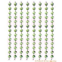 Cortina de cuentas de cristal verde