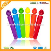 Molde do Popsicle da bandeja da cubeta do gelo superior / Molde do Popsicle do silicone / moldes comerciais do Popsicle do gelo do silicone