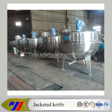 Vertical Steam Heating Jacketed Cooking Kettle Mixing Vessel