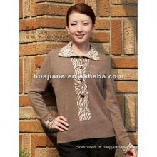 Camisola de cashmere oversized para mulheres na moda