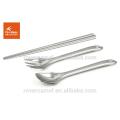 Fire Maple 3pcs(chopsticks,spoon,fork) practical tableware stainless steel tableware hiking tableware