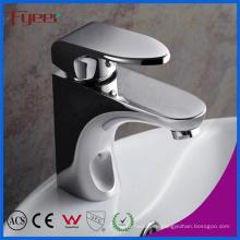 Fyeer-Badezimmer-zeitgenössischer einzelner Handgriff-Chrom überzogener Messing-heißer u. Kalter Wasser-Mischer-Hahn