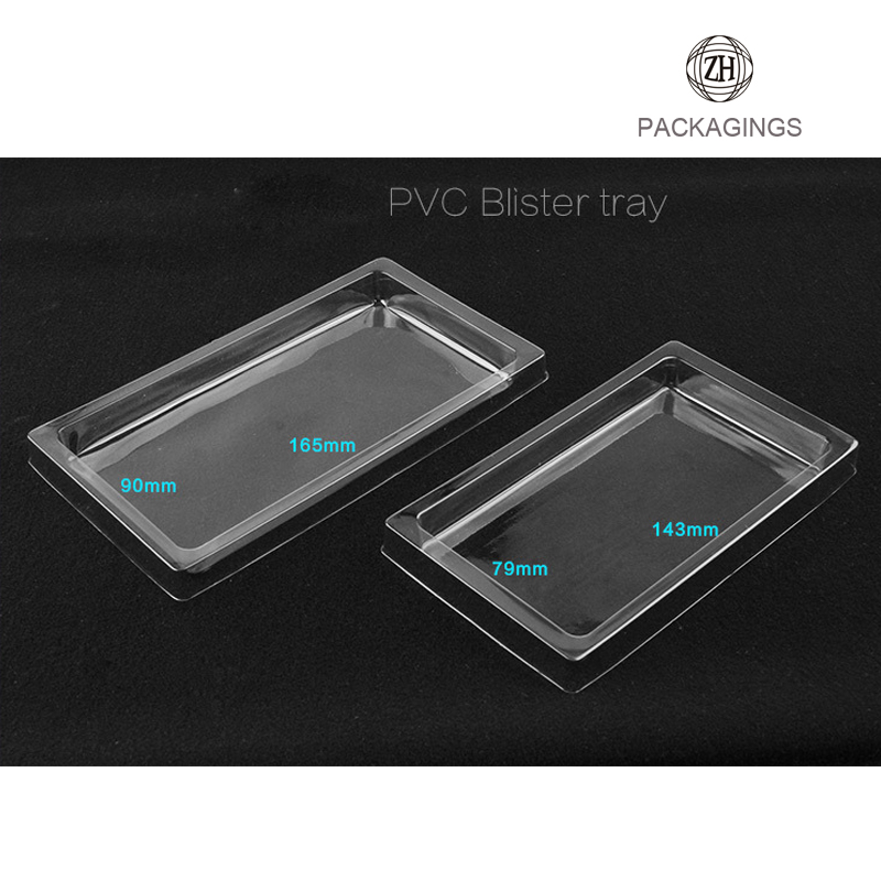 Plastic tray insert phone case box