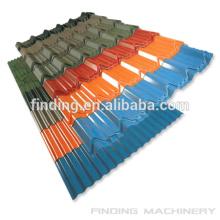 Feuille de toiture colorée sur mesure avec le bon prix