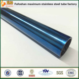beautiful 316 sapphire mirror polished color stainless steel hollow tube