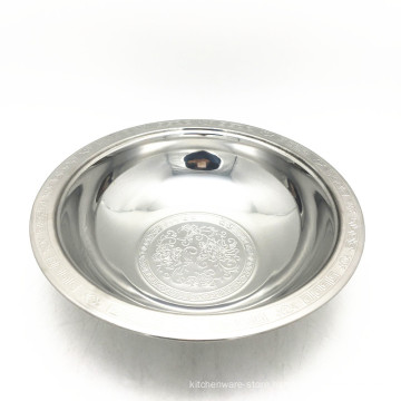 wholesale various size 10inch stainless steel wash basin bowl with lid