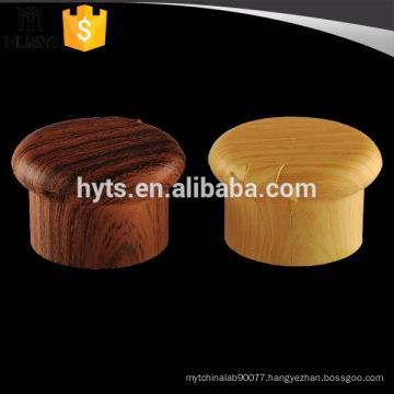 Wood grain cosmetic plastic flip top cap for lotion bottles
