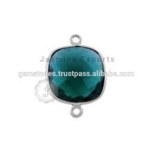 Pierres précieuses en pierre gemme Lunettes en argent sterling Ensembles de lunette Reliures en pierre gemme