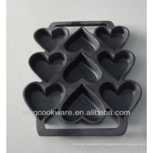 cast iron preseasoned shaped cake mold