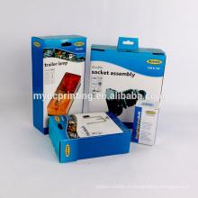 Напечатанная таможней бумажная коробка для автомобиля лампа с крюком