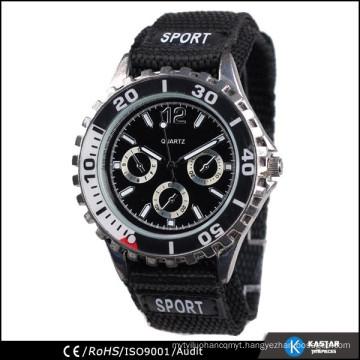 watches men fabric strap, waterproof watch quartz