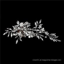 Acessórios para cabelo de noiva em cristal de prata
