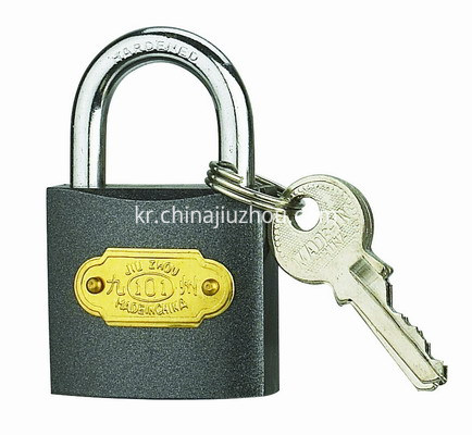 COLOUR IRON PADLOCK-BLACK-400