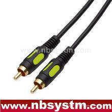Cabo de interconexão de vídeo moldado RCA Plug to RCA Plug