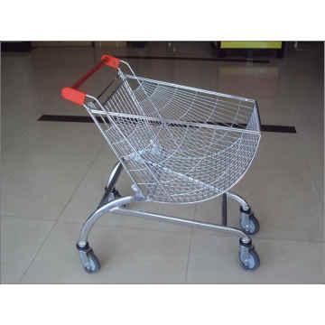Einkaufswagen und Laufkatzen für Supermarkt mit Kindern sitzen und Räder