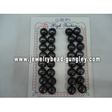 Half drilled pearl AAA grade 11mm, black