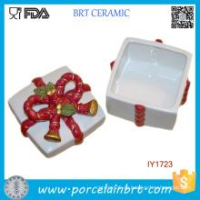 Heißer Verkauf Keramik Box Aufbewahrungsbox Frohe Weihnachten Geschenk