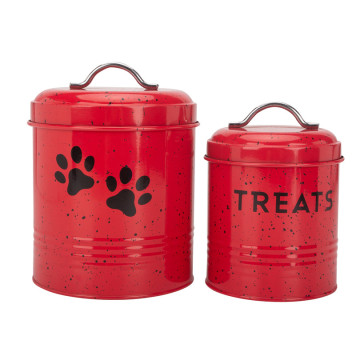 Red pet accessory pet food container