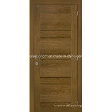 Puertas interiores baratas de chapa de madera para la habitación interior