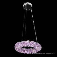 High quality custom made service natural round rock crystal drop chandelier