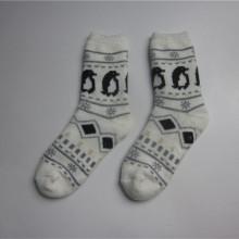 Unisex Pinguin Jacquard Slipper Socken