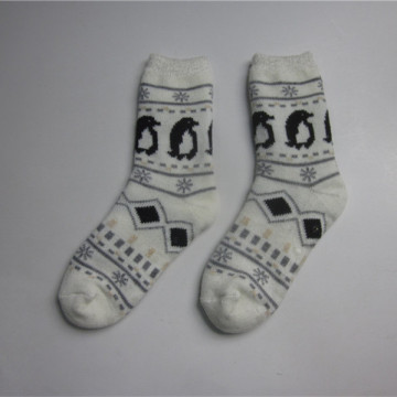 Unisex Penguin Jacquard Slipper Socks