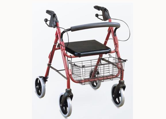Rollator foldable