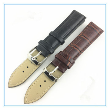 22MM Custom Black Leather Watch Straps