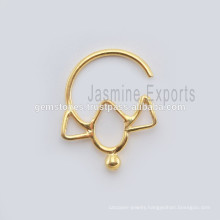 Indian Septum Body Piercing Jewelry, Handmade Septum Nose Ring Jewelry, Wholesale Septum Fashion Body Jewelry