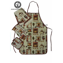 Colorful Custom Monogram Pattern Polyester Kitchen Artist Full Set Apron