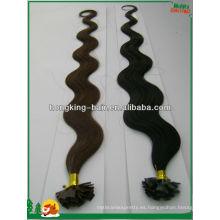 cabello humano punta plana pre-consolidada extensión hait, extensión de cabello queratina