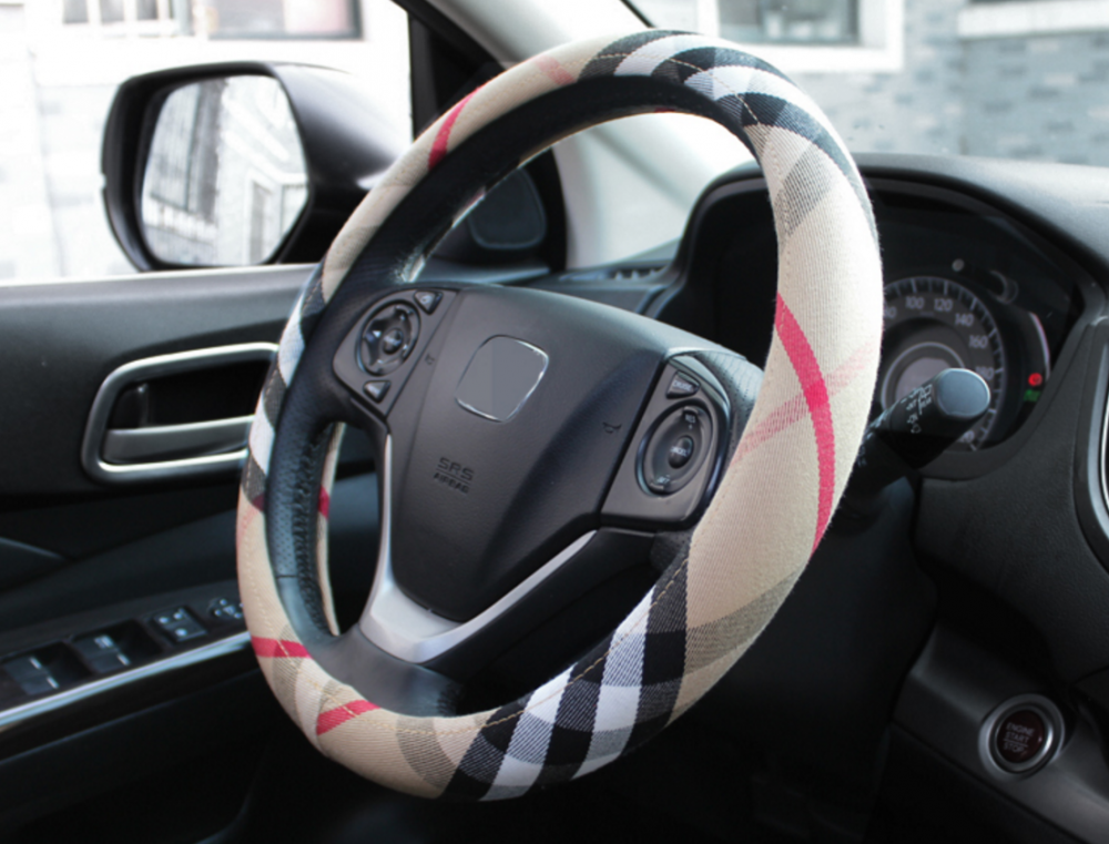 flax steering wheel cover