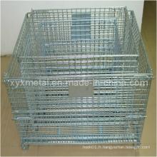 Types de conteneur de stockage de stockage de métaux pliable