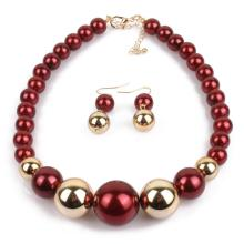 Choker Pearl Necklace and Earrings Set Cheap