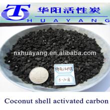 producción de carbón activado con cáscara de coco
