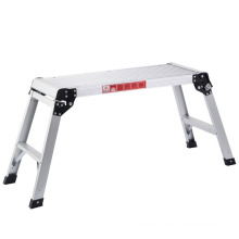 En131 Aluminum Platform Drywall Step up Folding Work Bench Stool Ladder