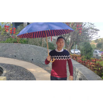 Japanese Style High-end Bamboo Frame and handle customized umbrella with logo print