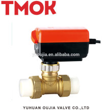 Good quality PPR natural color Electric Brass Valve